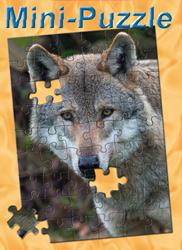 Minipuzzle Wolf