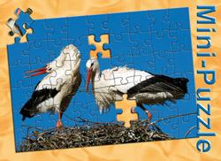 Minipuzzle Storch